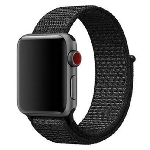 Apple Smartwatch bandje voor model 4 3 2 en 1 in verschillende kleuren Apple Watch whole black / 38mm / 40mm Korting