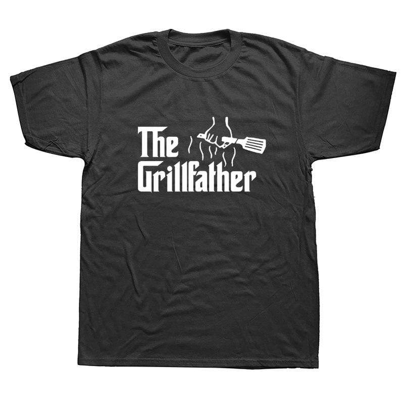 Barbecue T-shirt voor Mannen - Grill Shirt - The Grillfather T-shirt - Indigo Markt