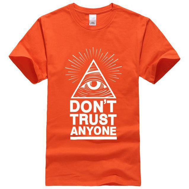 Don't Trust Anyone T-Shirt voor mannen Oranje 2 / S Korting