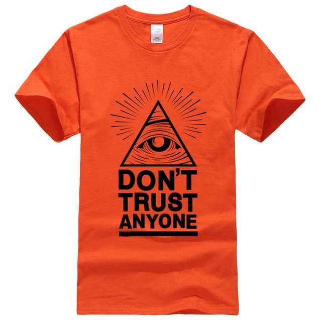 Don't Trust Anyone T-Shirt voor mannen Oranje / S Korting