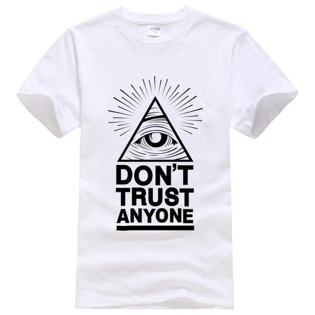 Don't Trust Anyone T-Shirt voor mannen Wit / S Korting