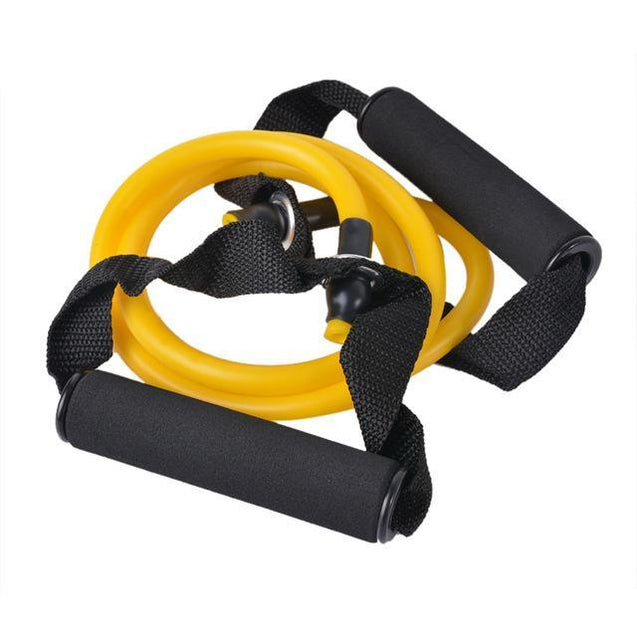 Fitness en Yoga Workout training stretchband Geel Korting