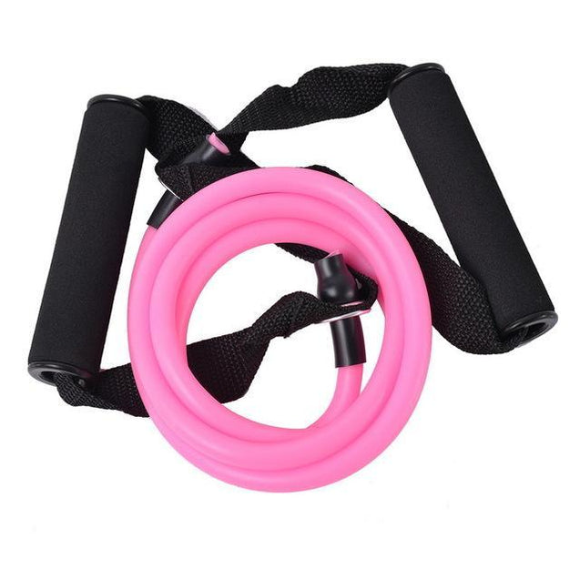 Fitness en Yoga Workout training stretchband Roze Korting