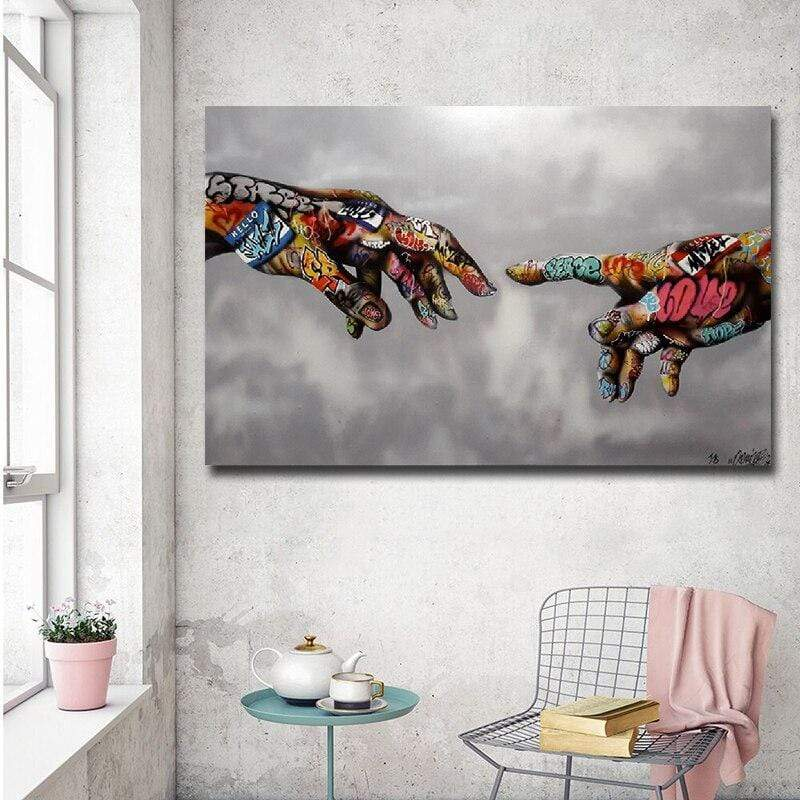 Graffiti Hand in Canvasdoek Korting