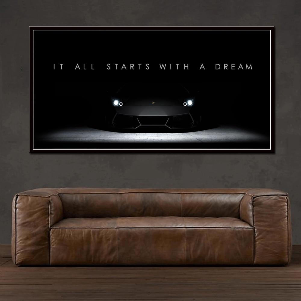 It All Starts With A Dream in Canvasdoek Korting