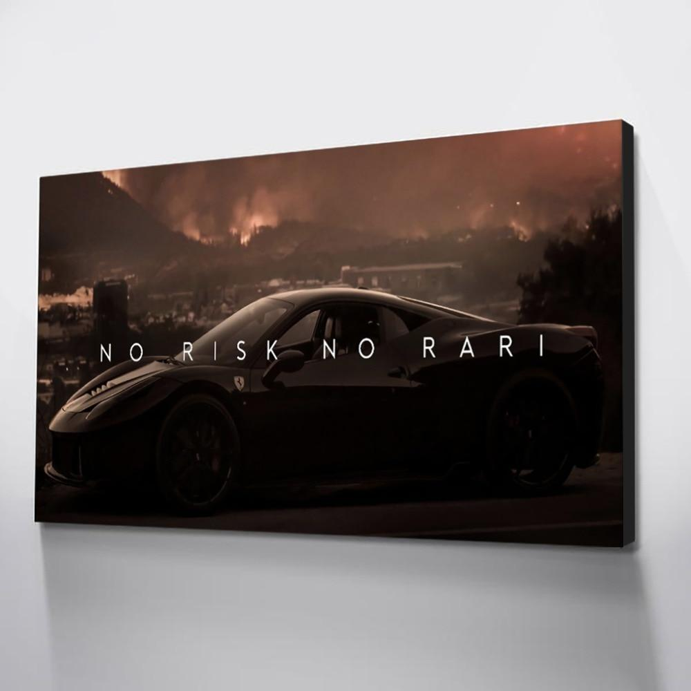 No Risk No Rari in Canvasposter Korting