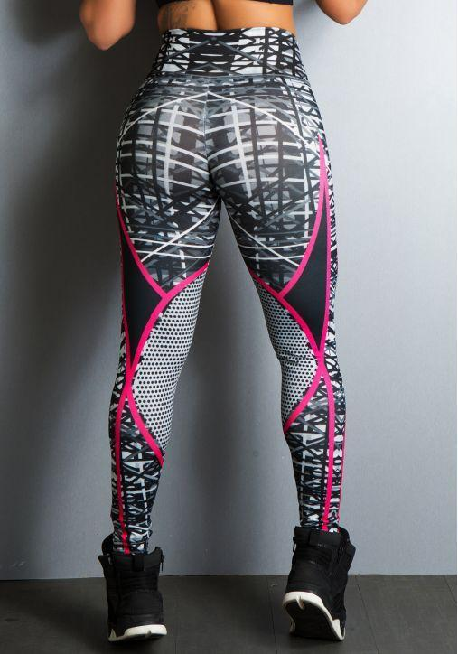 Sport Legging High Waist Push-up 2019 - Sportlegging High Waist - Fitnesslegging Stijl 1 / XS Korting
