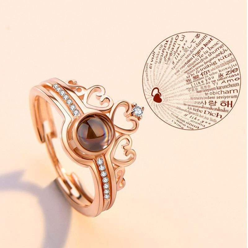 100 Talen I love You Ring - Ring met I love You in 100 Verschillende Talen - Indigo Markt