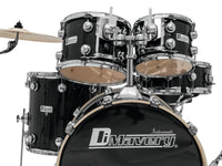 DIMAVERY DS-610 Schlagzeug-Set, Black Sparkle
