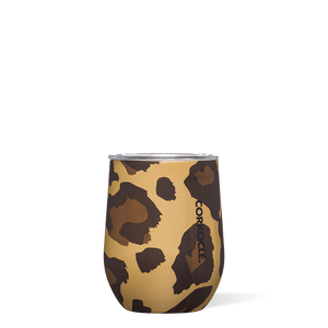 Luxe Leopard Stemless 12oz