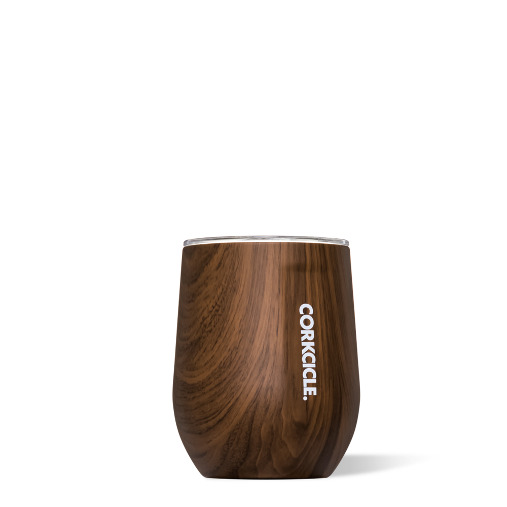 Walnut Wood Stemless 12oz