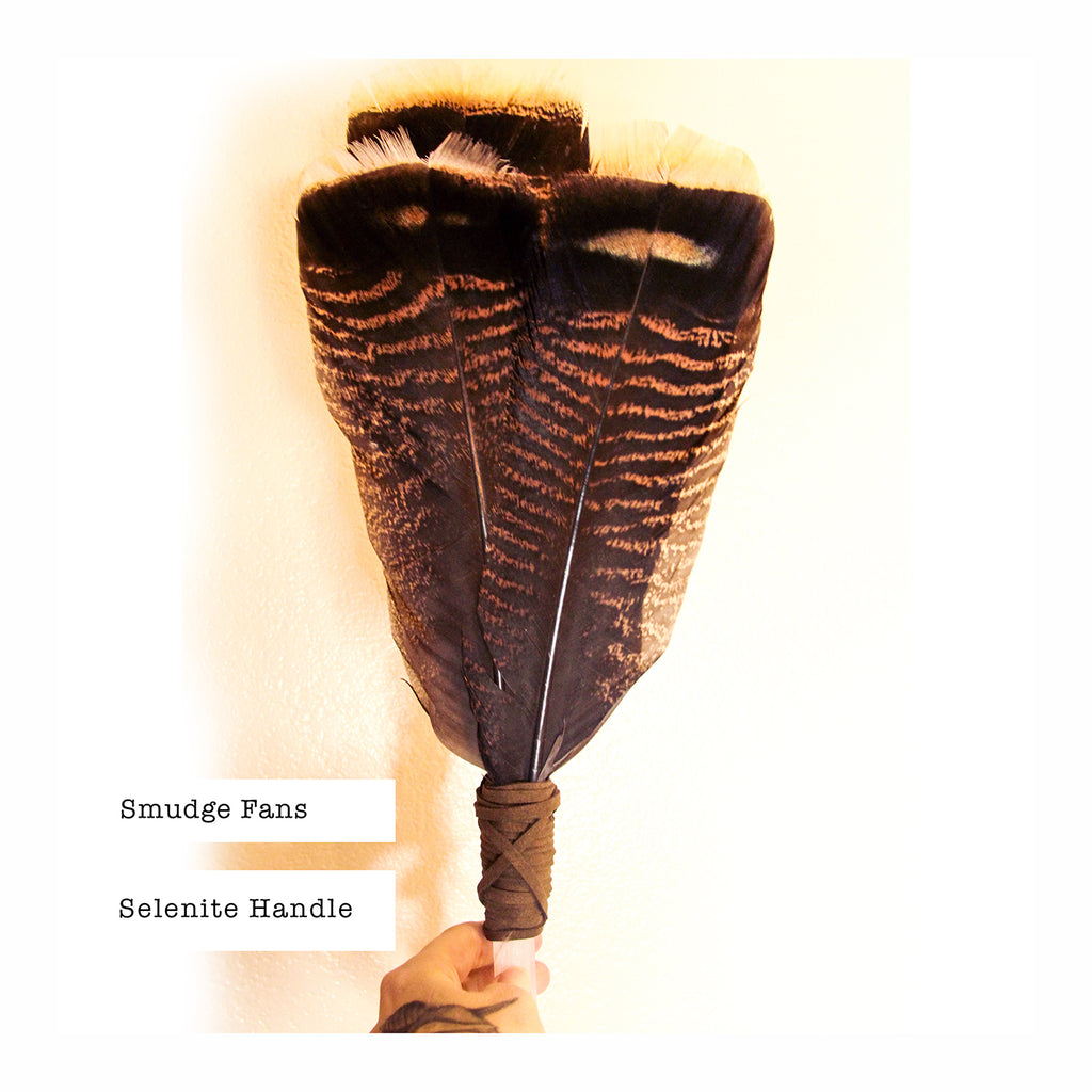 SACRED SMUDGE FAN - Crystalline Tribe