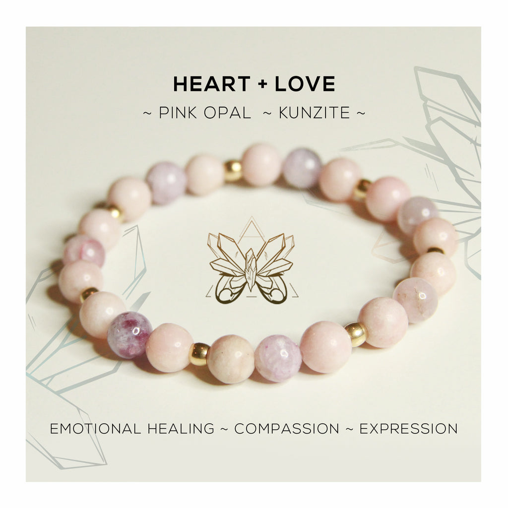 HEART + LOVE BRACELET - Crystalline Tribe