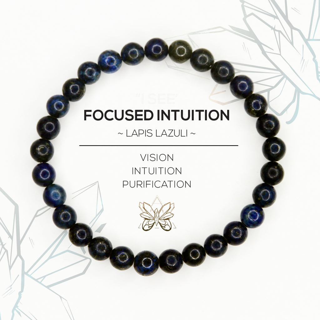 """FOCUSED INTUITION"" - THIRD EYE CHAKRA BRACELET - Crystalline Tribe"