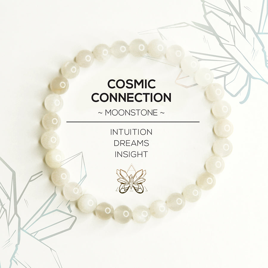 """COSMIC CONNECTION"" - Moonstone Bracelet - Crystalline Tribe"