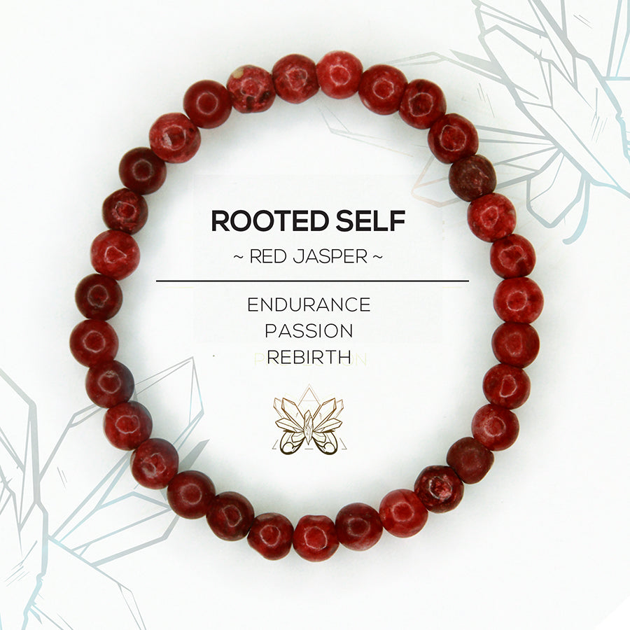 """ROOTED SELF"" - ROOT CHAKRA BRACELET - Crystalline Tribe"