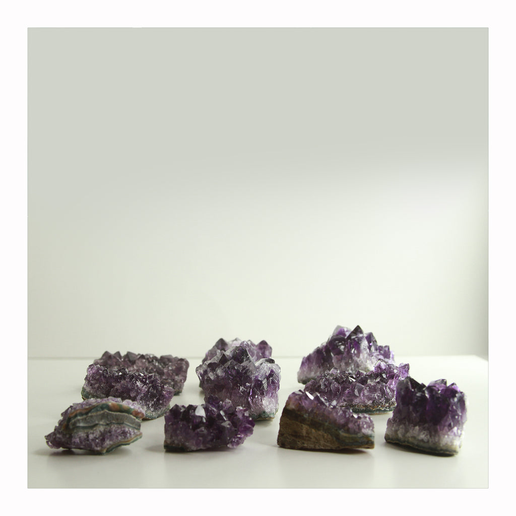 Amethyst Clusters - Crystalline Tribe