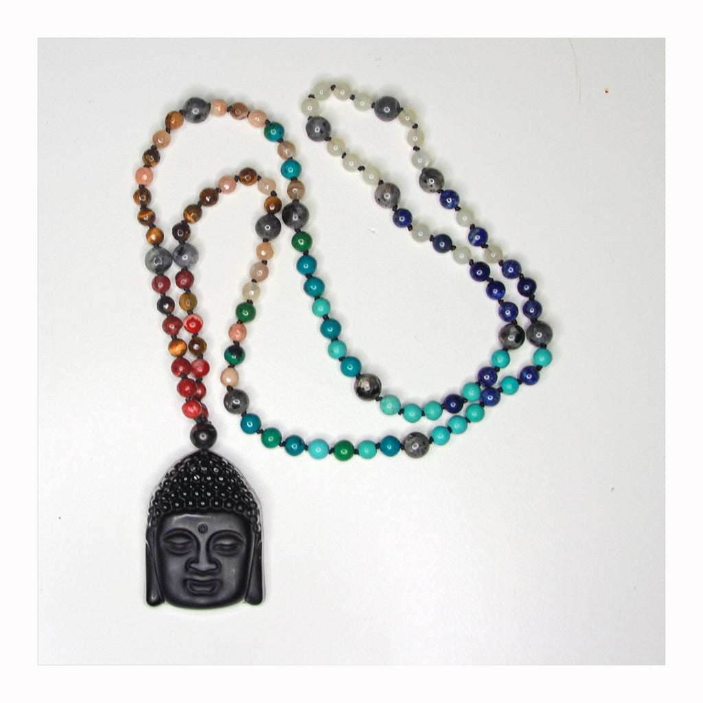 "Buddha Chakra ""Raise Your Vibration"" Mala - Crystalline Tribe"