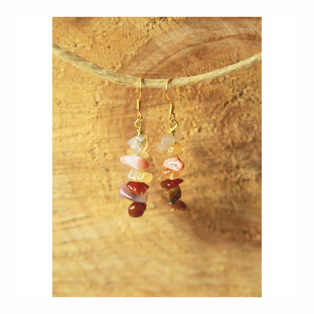 Carnelian Stacked Earring - Crystalline Tribe
