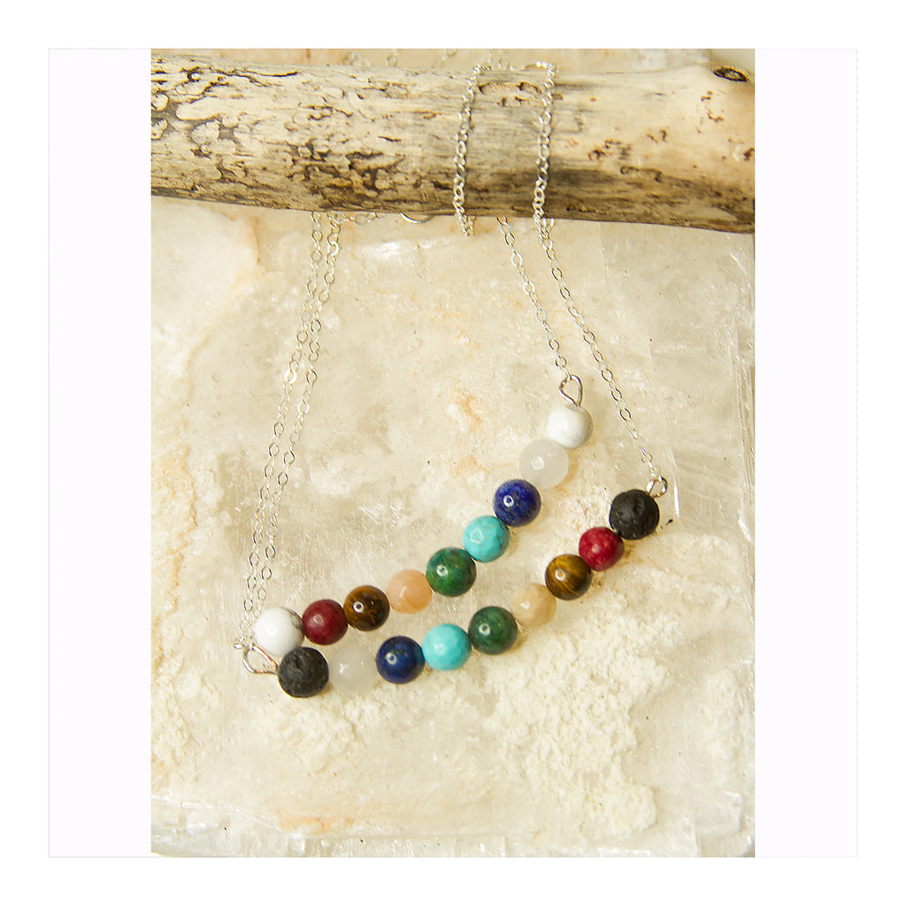 Chakra Bar Necklace - Crystalline Tribe