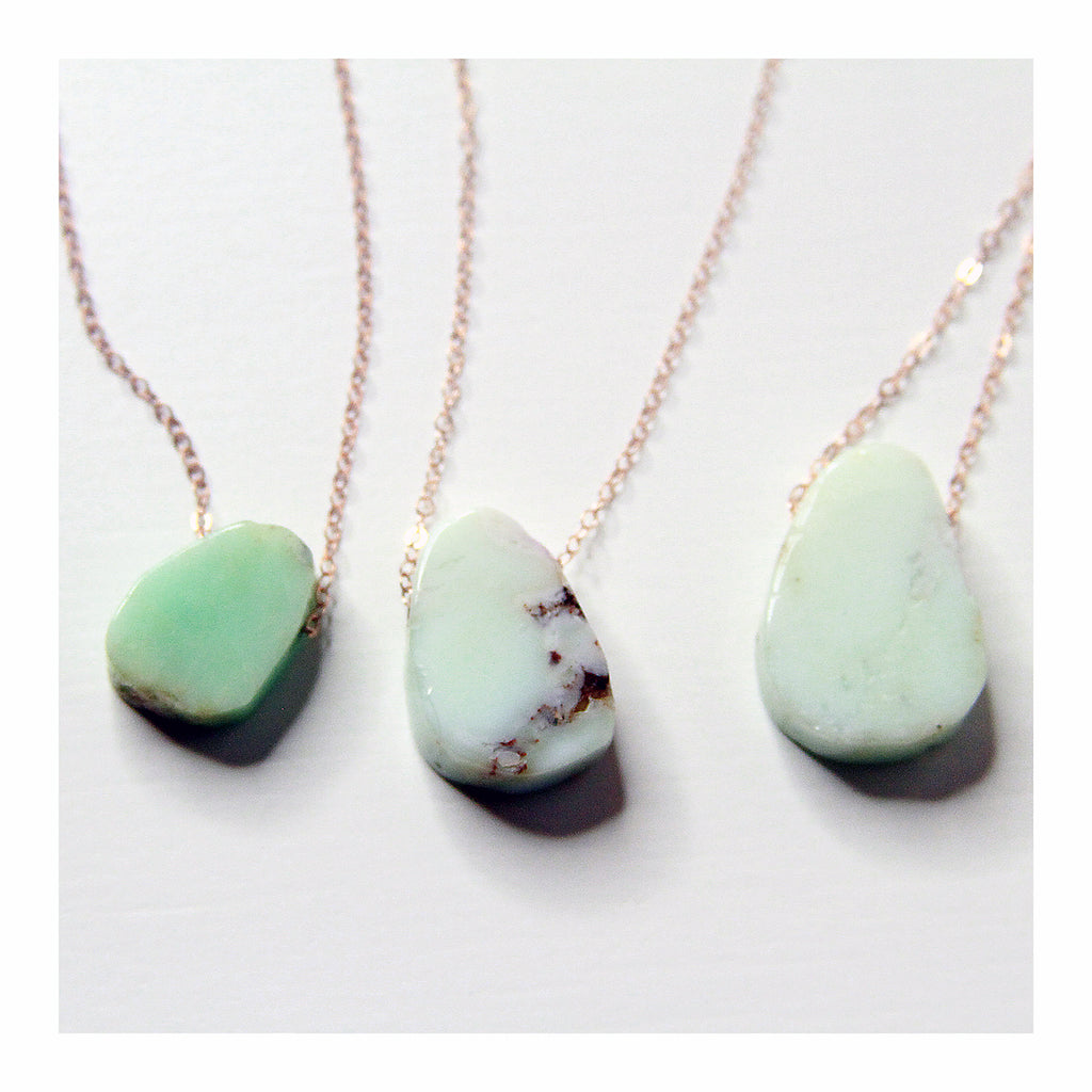 Chrysoprase Necklace - Crystalline Tribe