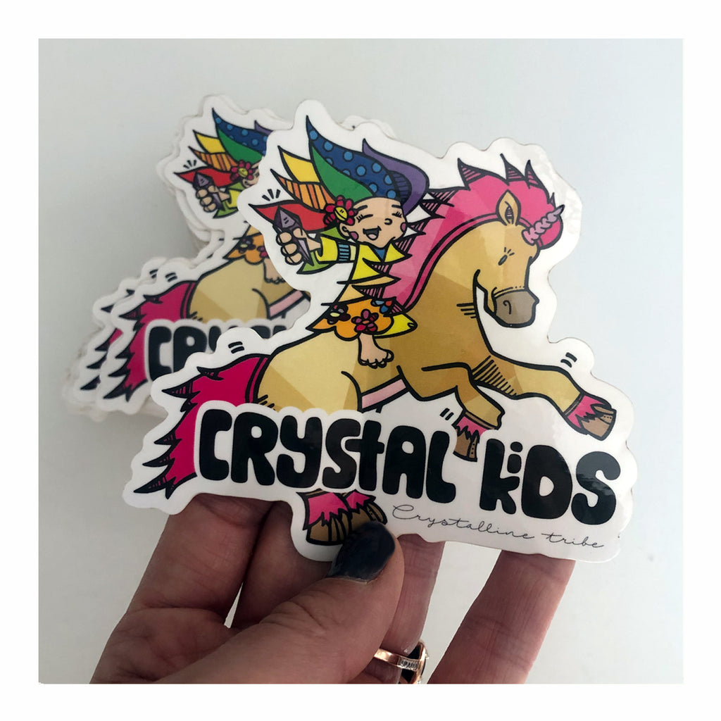 Crystal Kids Sticker - Crystalline Tribe