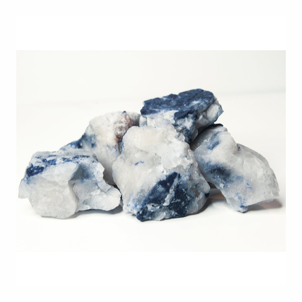 Dumortierite in Quartz - Crystalline Tribe