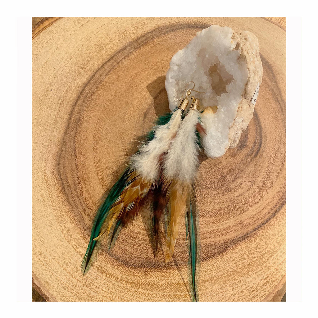 Feather Earrings - Crystalline Tribe