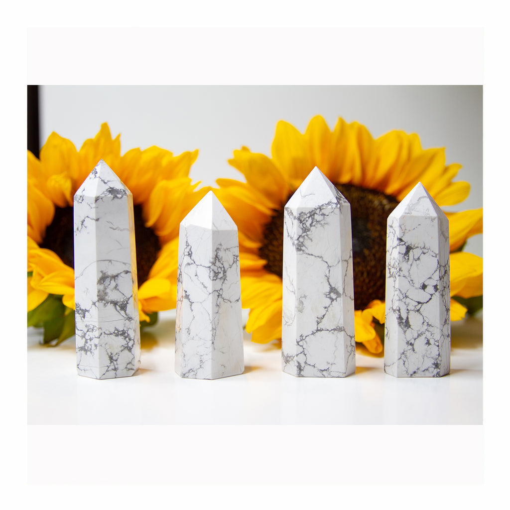 Howlite Points - Crystalline Tribe
