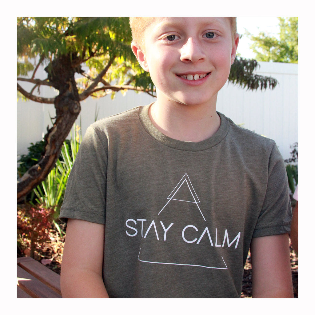 Stay Calm - Kids T-Shirt - Crystalline Tribe