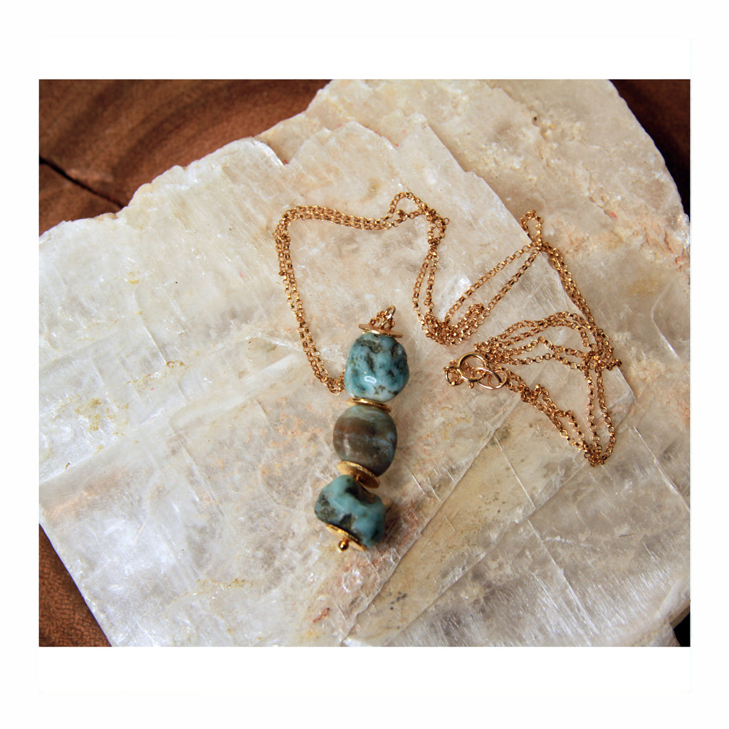 Larimar Drop Necklace - Crystalline Tribe