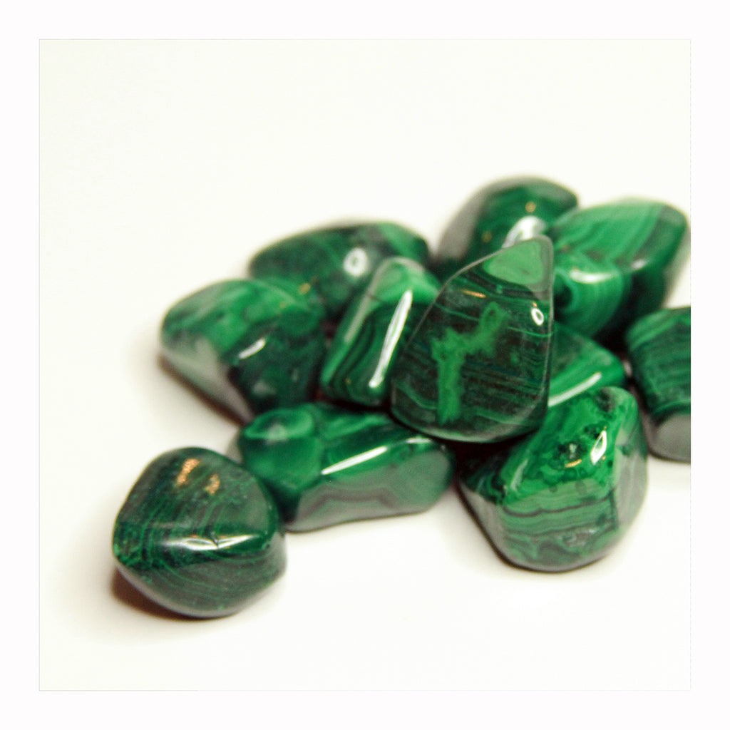 Malachite Tumbled Stone - Crystalline Tribe