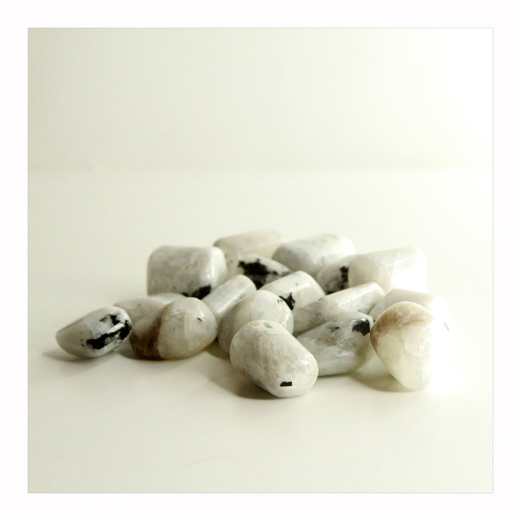 Rainbow Moonstone - Tumbled Stones - Crystalline Tribe