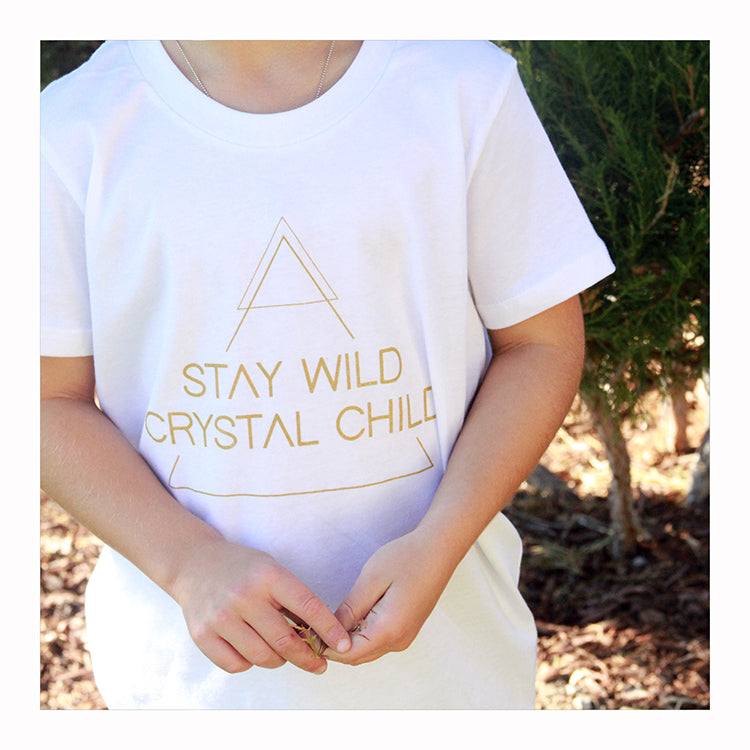 Stay Wild Crystal Child - Kids T-Shirt - Crystalline Tribe