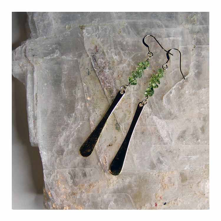 Peridot Dangle Earring - Crystalline Tribe
