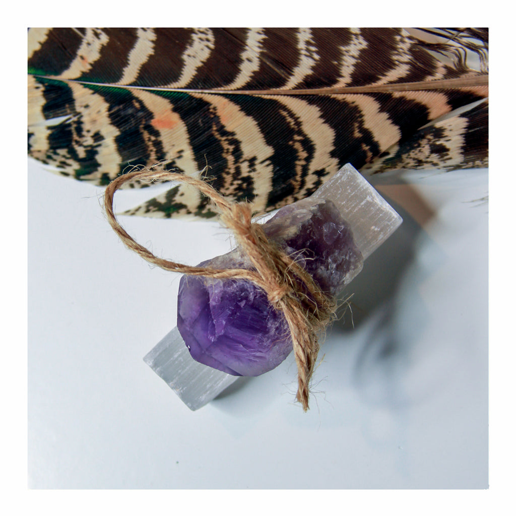 Amethyst + Selenite Wish - Crystalline Tribe