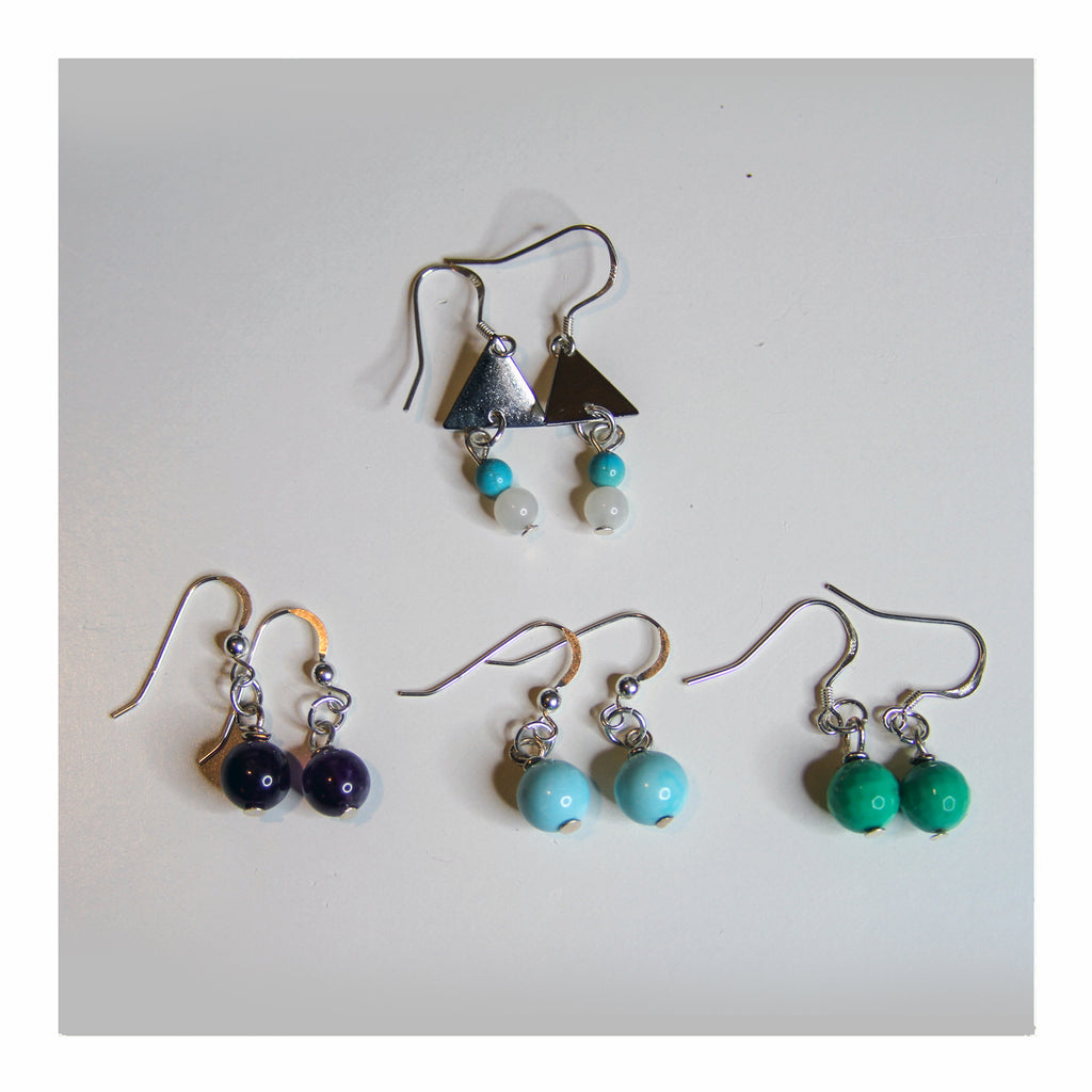 Simple + Silver Earrings - Crystalline Tribe