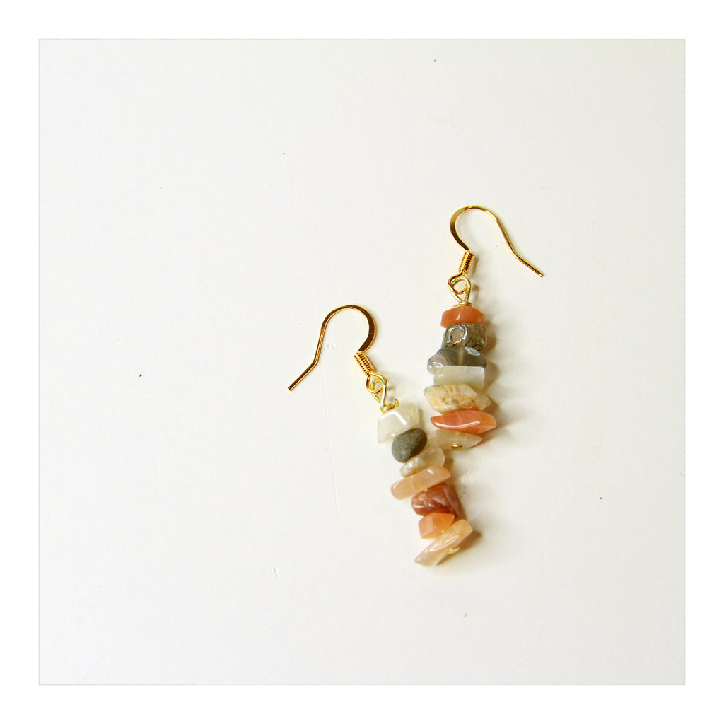 Sunstone Stacked Earring - Crystalline Tribe