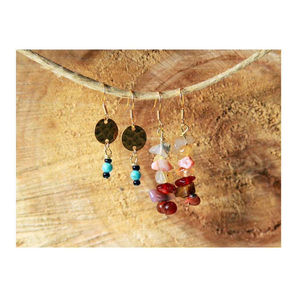 Small Turquoise Dangle Earring - Crystalline Tribe