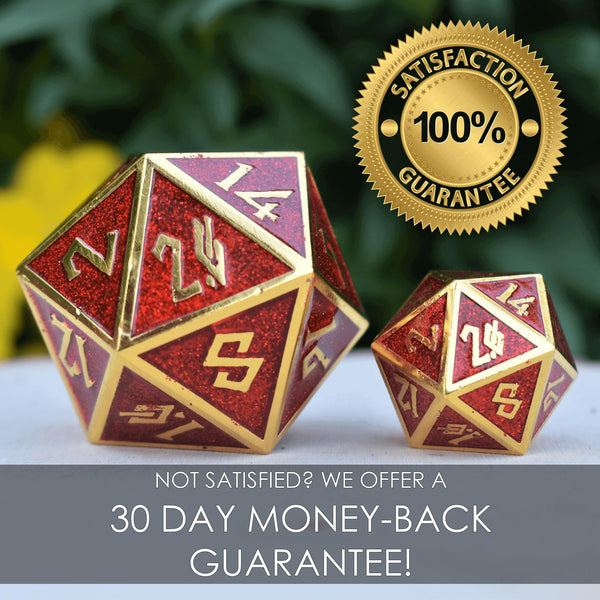 THE ORB D100 NEON YELLOW AND MATTE SILVER METAL DICE