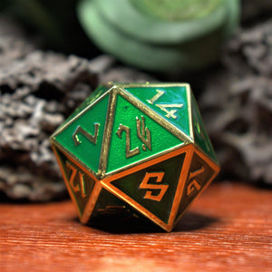 CLERIC'S DOMAIN GOLD METAL DICE SET
