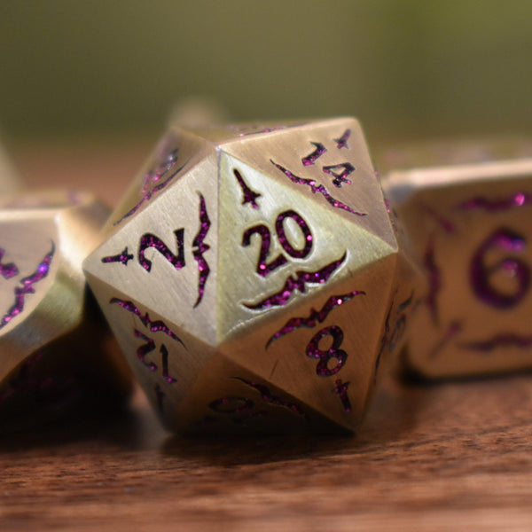 BLADE OF THE MAIDEN METAL DICE SET