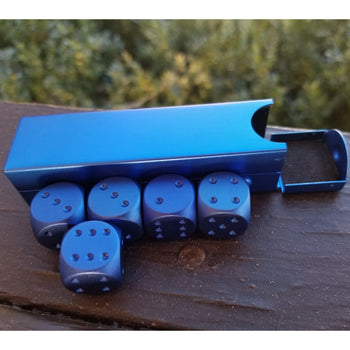 BLUE D6 SET WITH CASE - Tabletop gaming dice sets , Misty Mountain Gaming - Misty Mountain Gaming