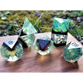 CHARM OF THE DRYAD SHARP EDGE RESIN DICE SET