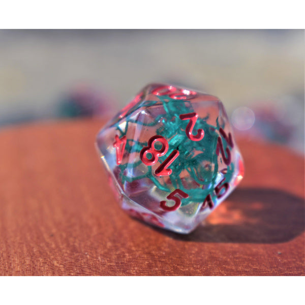 CHRISTMAS MISTLETOE RESIN DICE SET