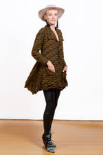 Party Textured Ochre Knit Jacket
