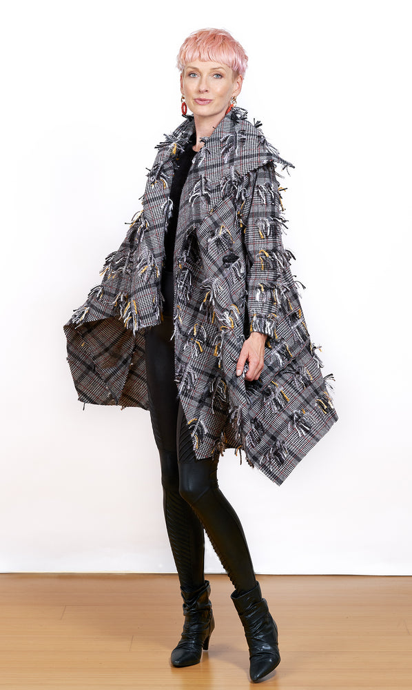 High Flying Tassels Coat with Pocket