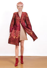 Dancer's Reversible Embroidered Silk Coat