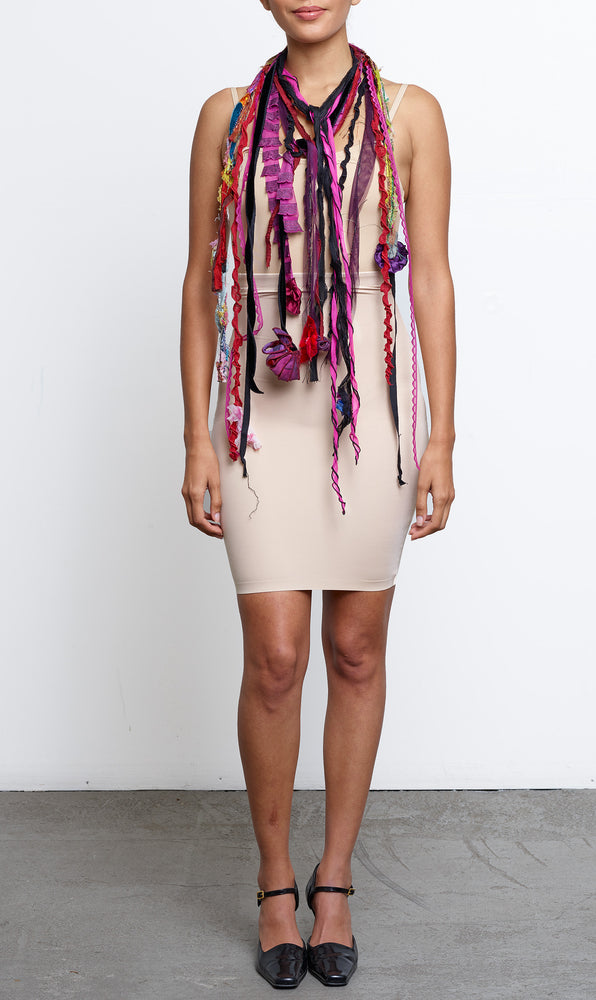 Tendrils Scarf in Fushia/Red/Purple