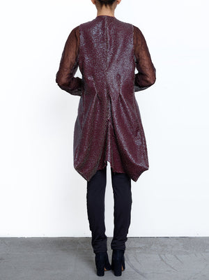 Faux Leather Traveler's Coat